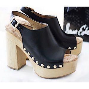 SAM EDELMAN | Marley Leather Clog Platform Heels